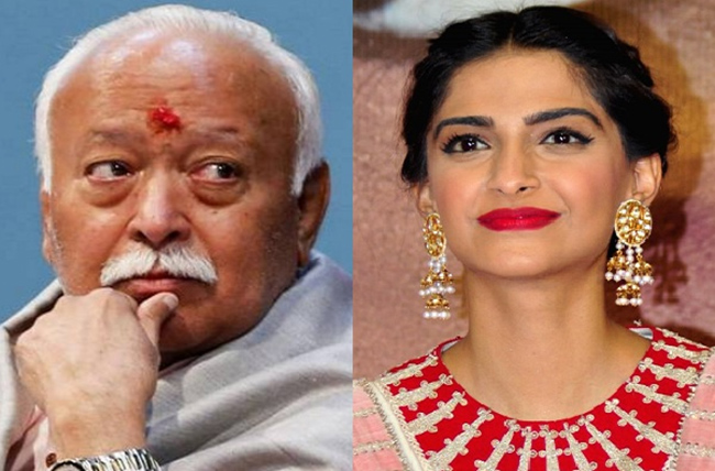 Sonam Kapoor slams Mohan Bhagwat's divorce comment