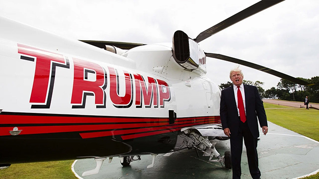 U.S. President Donald Trump helicopter