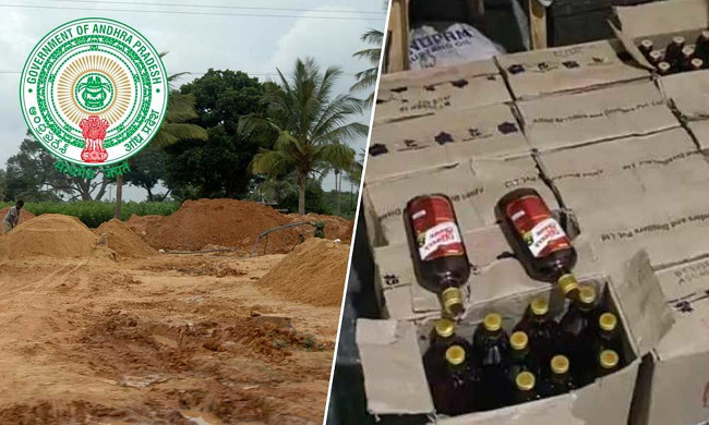 Andhra Govt On About illegal Sand and Liquor Transporation