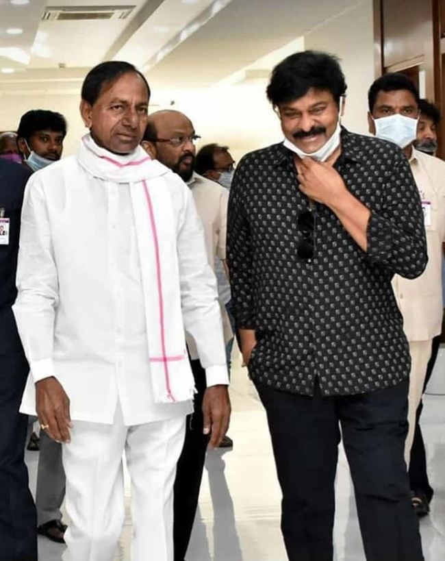 Chiranjeevi Thanks KCR For Granting Film Shoots