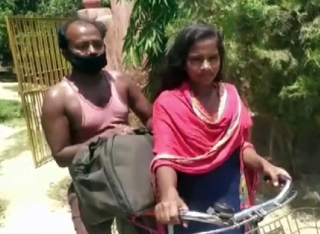 Jyoti Kumari cycled 1200 Km carrying her injured father from Gurugram