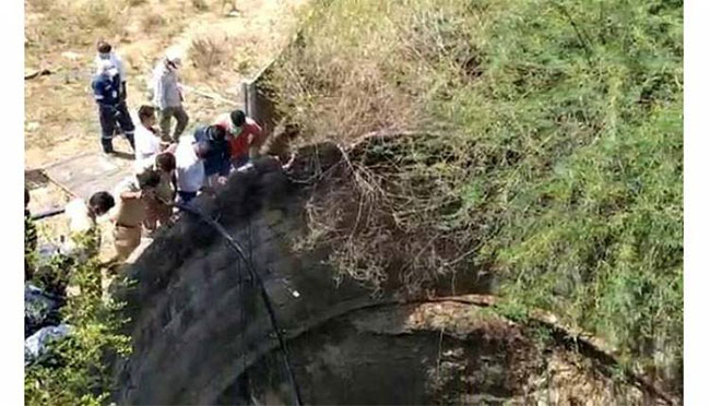 Migrant family found in a well in Warangal