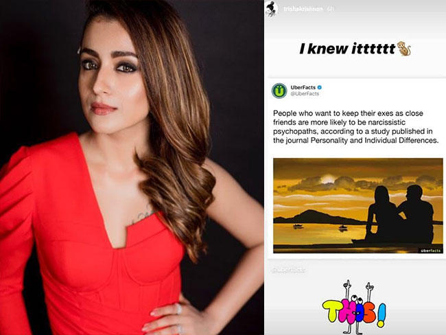 Trisha Deleted Tweet..Is it for her ex lover..?