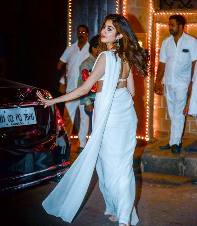 million volts in white saree!
