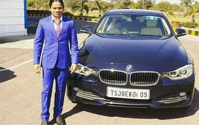 A player who sold a BMW car For Money