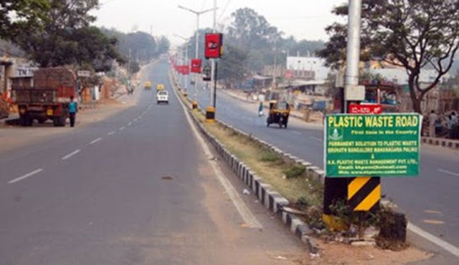Modi Master's new target .. Lakhs of kilometers of plastic road .. This is the profit