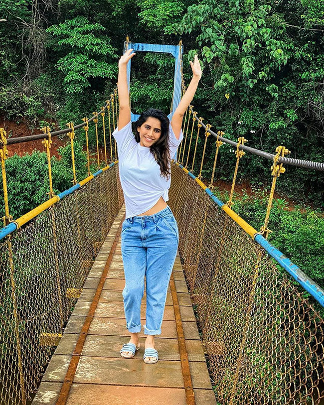 Nabha Natesh Cute Pose On Bridge