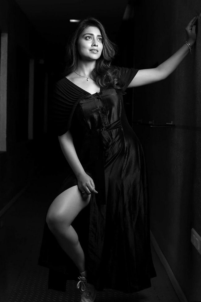 Pic Talk: Scintillating Shriya Saran Stuns You In Black & White Click!