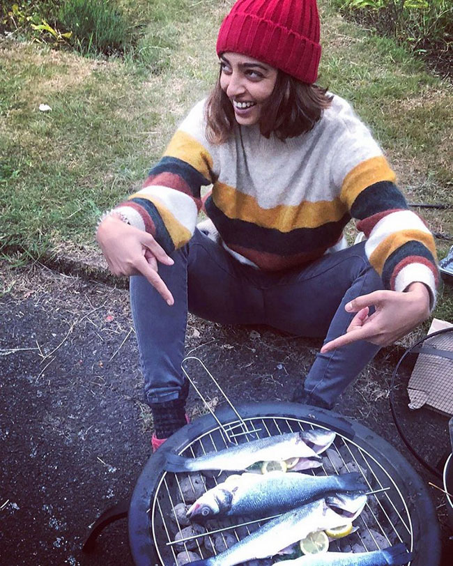 Radhika Apte Cooking Fish