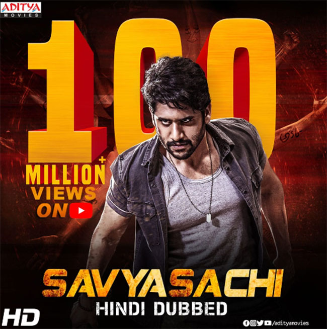 Savyasachi Hindi dubbing rakes in almost 100M views