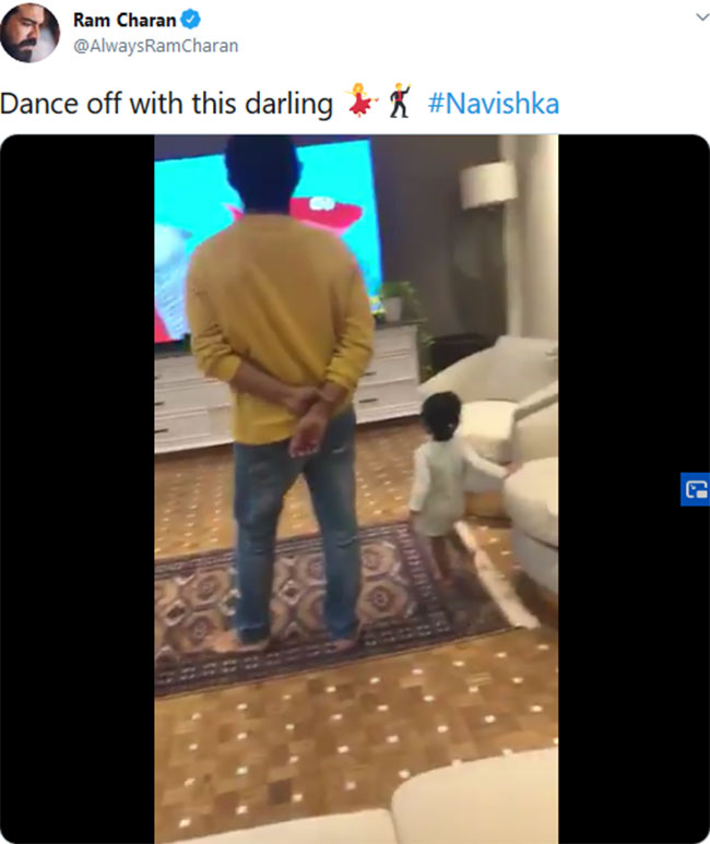 Charan steps in with his niece ...!