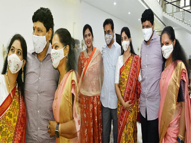 KTR Kavitha Raksha Bandhan Celebration