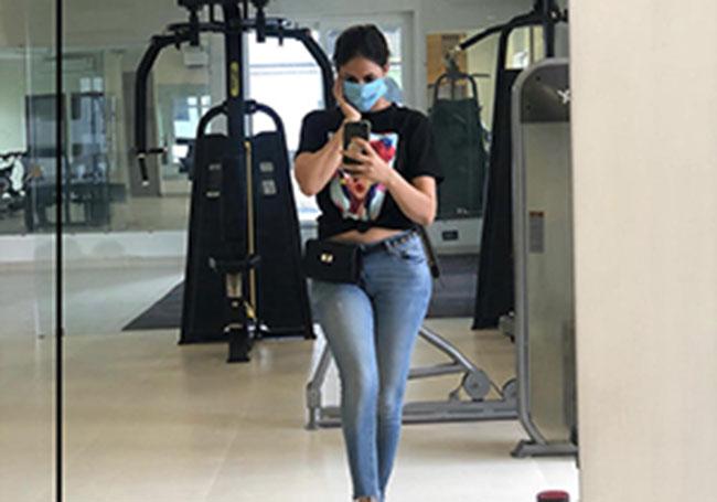 Lavanya Tripathi Latest Pose In Gym