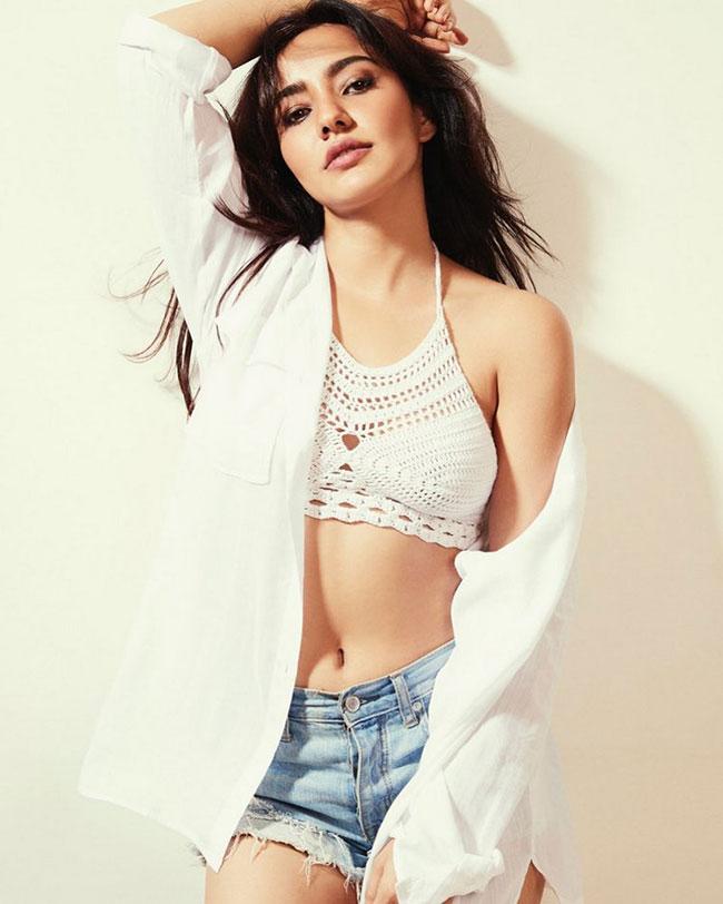 Neha Sharma Stunning Pose In White
