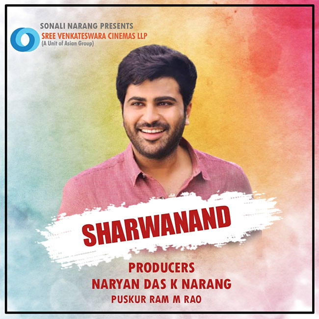 Sharwanand announces new project ...!