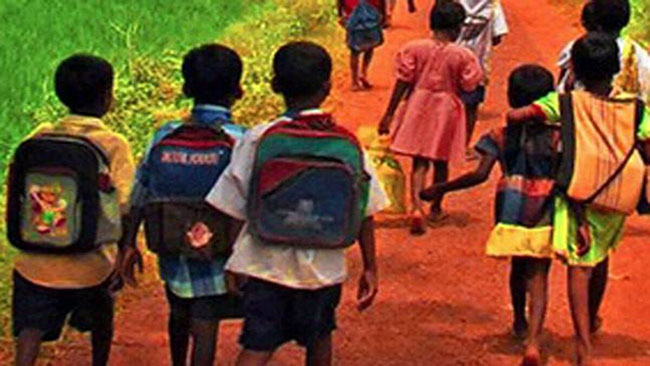 60% of students in the country go to school By Walk