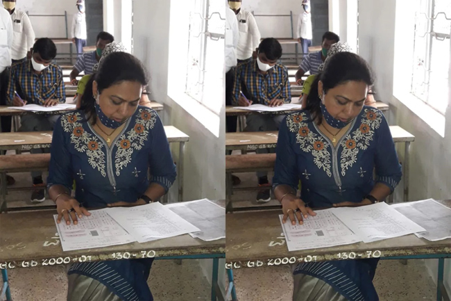 Actress Hema appears for a Degree entrance exam