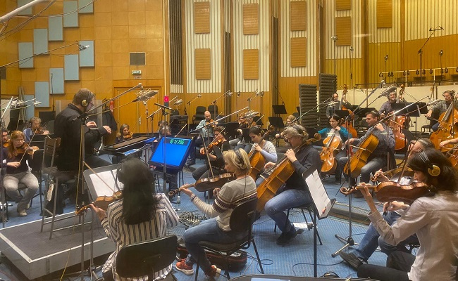 Crossed the deep seas Budapest For Nishabdham Re Recording