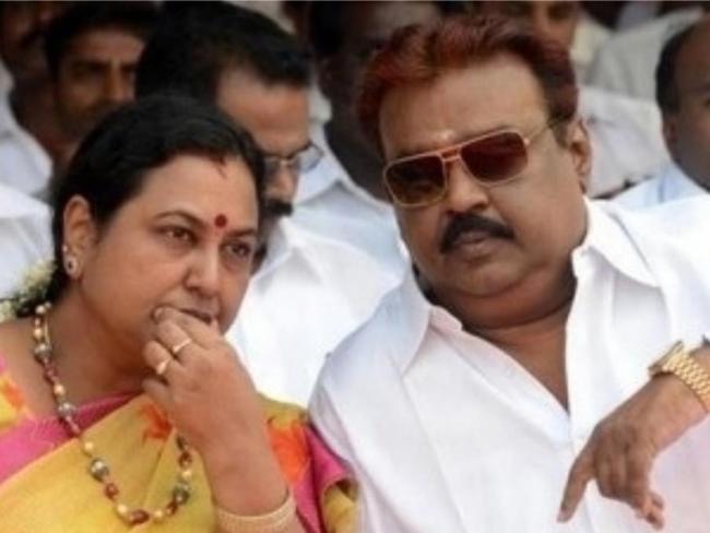 DMDK chief Vijayakanth wife Premalatha tests positive