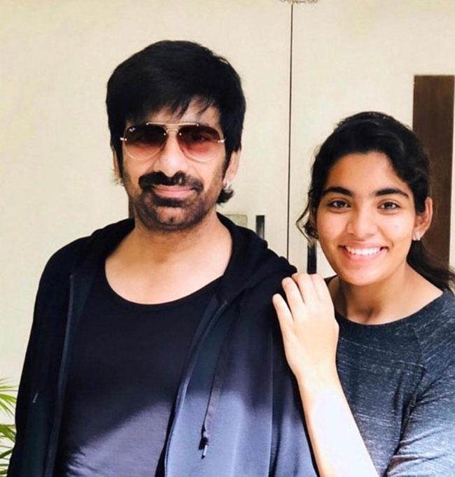 Ravi Teja With His Daughter