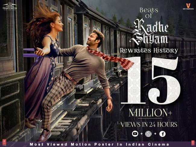 #Radhe Shyam: Sensation with 50 crore views in 24 hours