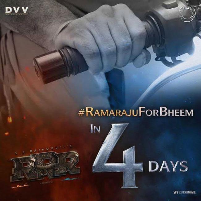 4 days To go RRR NTR Bheem teaser