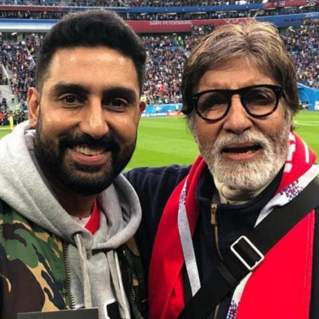 Abhishek Bachchan quashes reports of dad Amitabh Bachchan getting hospitalized