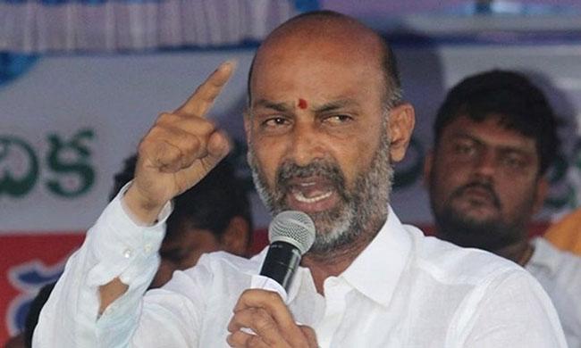Bidda Rajamouli .. We will beat him to death with barishela: BJP MP Bandi Sanjay Warning!