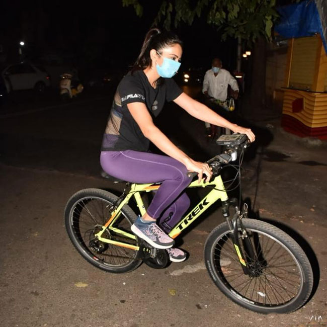 Have you seen fitness freak cycling on the streets of Mumbai?