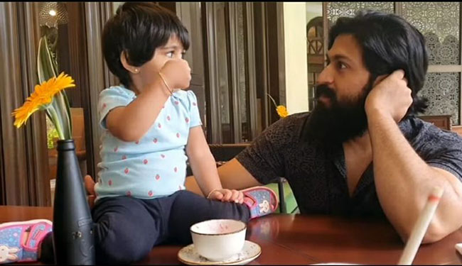 Here is how Yash gets a dose of himself from daughter Ayra