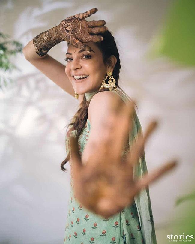 Kajal Agarwal Shows Off Her Mehendi