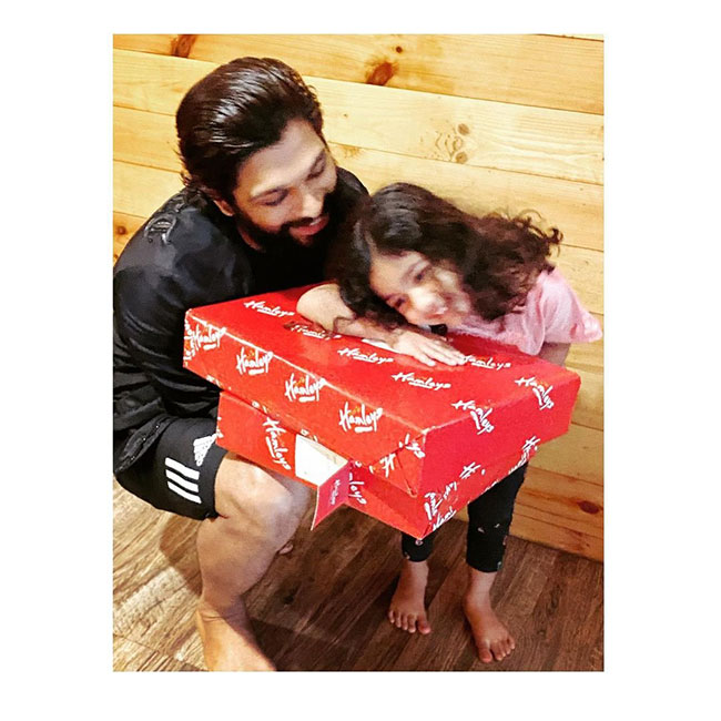 Allu Arjun Gave Gift To His Cute Little Kid Arha