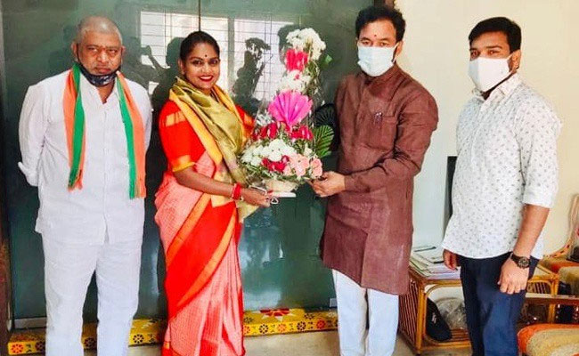 Breaking: Kathi Karthika who joined BJP
