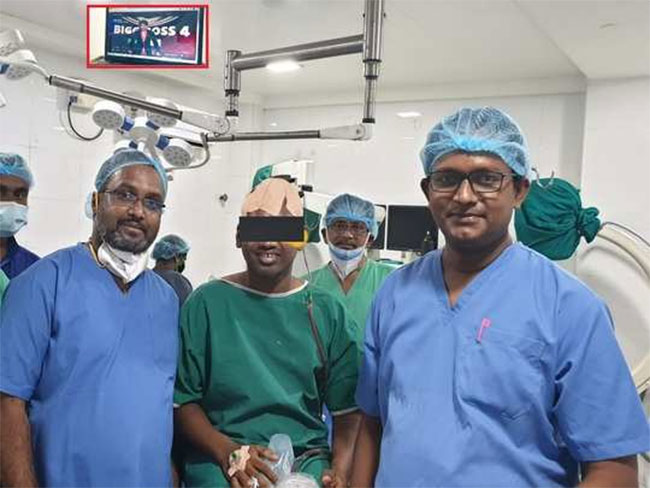 Doctors who performed brain surgery showing Big Boss