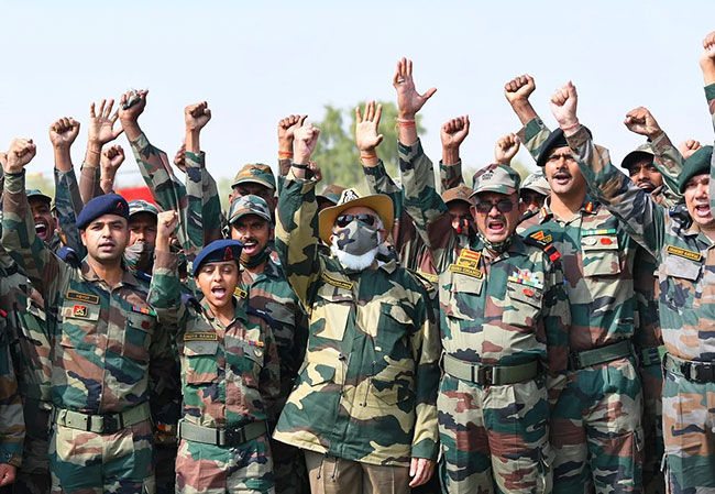 Modi Army uniform .. Garam garam on social media