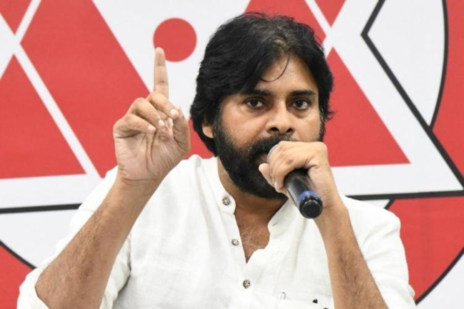 What is the strategy behind Janasena withdrawing from the competition?