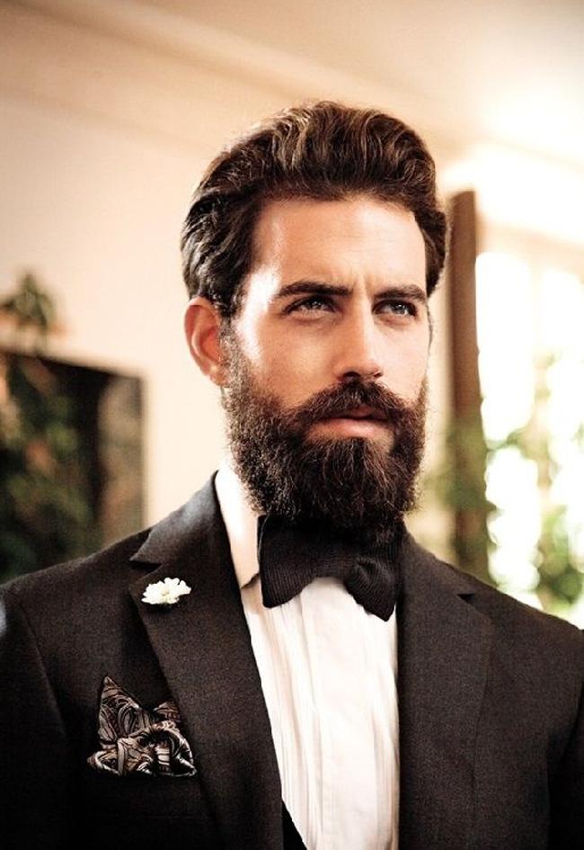 Strange custom: When the bridegroom has a beard .. What will he do if he grows it ..?