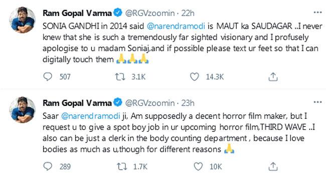 RGV sensational comments on Modi
