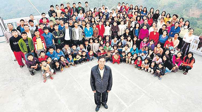 A man with 39 wifes and 94 children