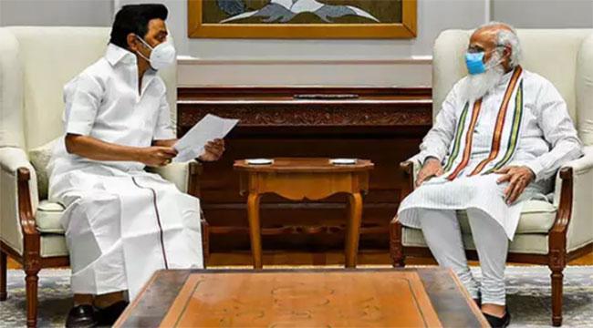 CM MK Stalin meets PM Modi