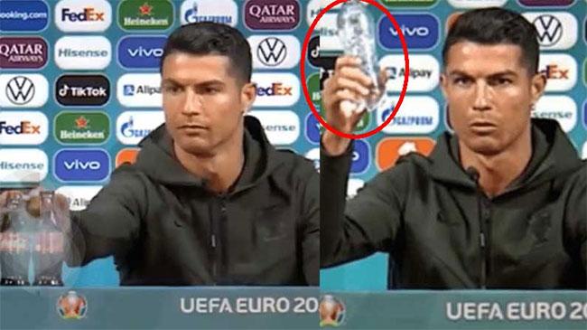 Cristiano Ronaldo sets aside Coke bottle