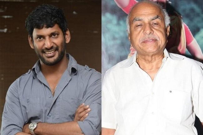 Hero Vishal complains against producer
