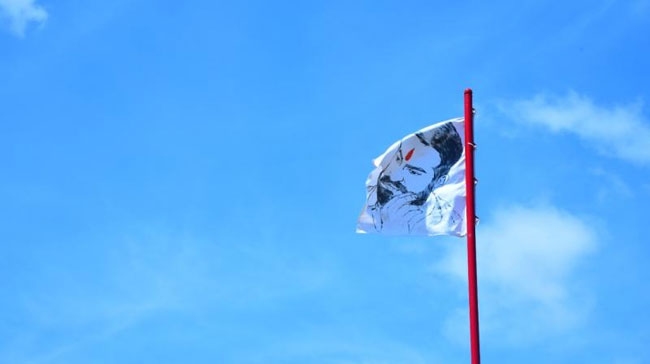 Recently the Junior NTR flag was hoisted at a height of 40 feet