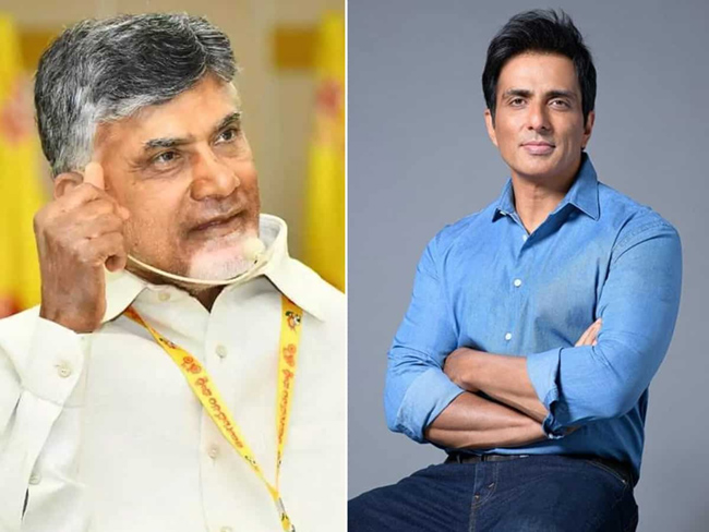 Why did Sonu Sood wake Chandrababu up in the middle of the night?