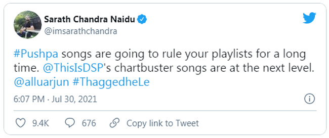 Sarath Chandra Interesting Comments About Puspa Songs