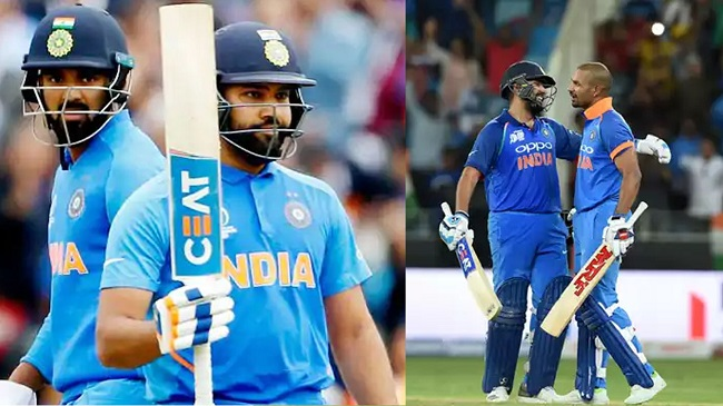 Shikhar Dhawan and KL Rahul competed as openers