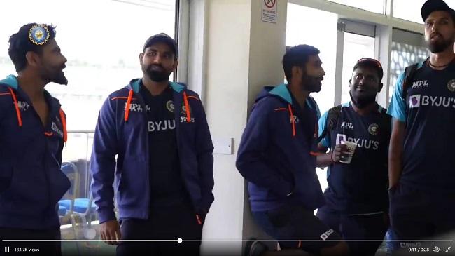 Team india enjoyed the Team India match