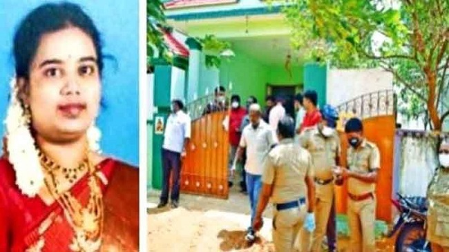 Two daughters kill mother and blood on photos of gods