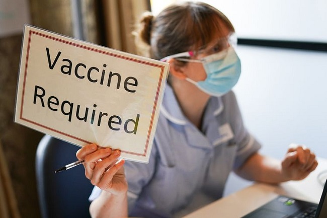 Vaccine is mandatory for entry