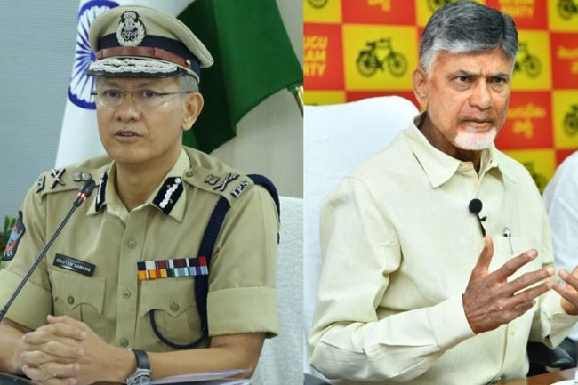 Chandrababu latest letter to AP DGP